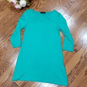 Hourglass Lilly Knit Green Dress Small